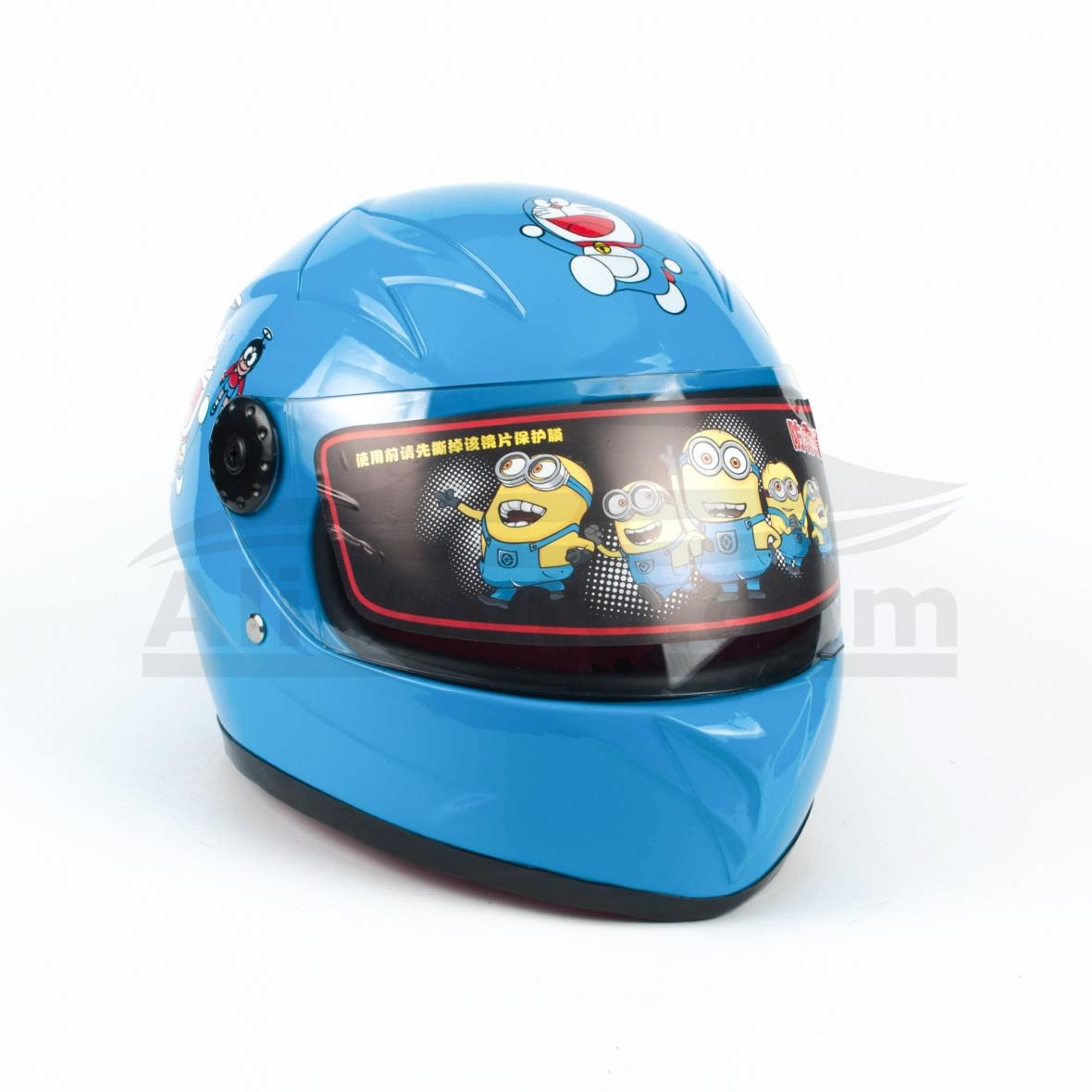 Детска Каска за Мотор, Скутер, Мотопед, АТВ – син