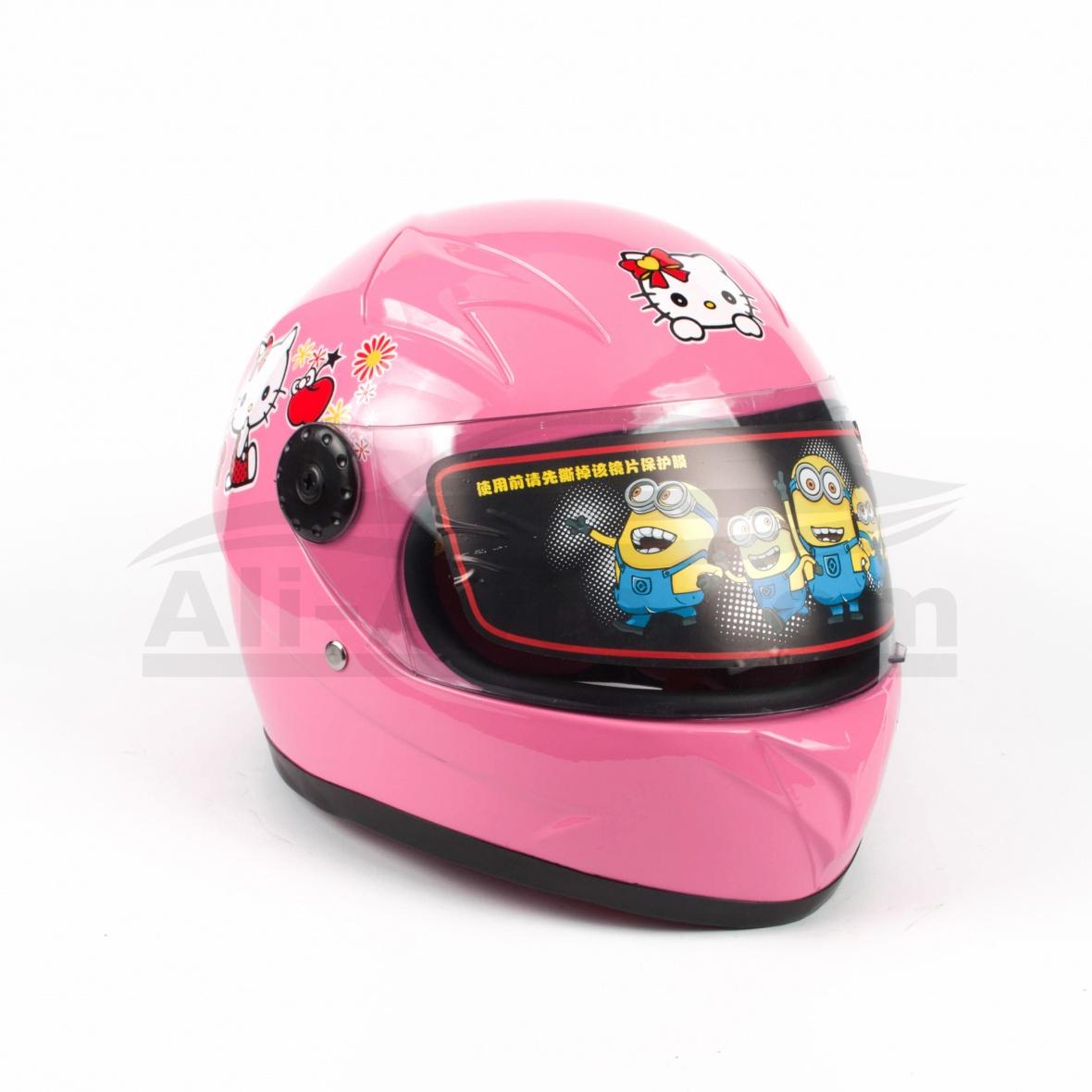 Детска Каска за Мотор, Скутер, Мотопед, АТВ – розово