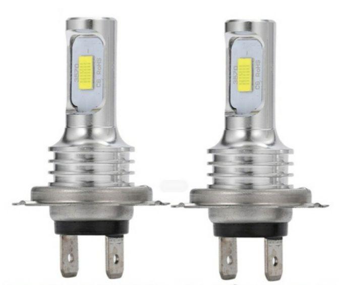 ЛЕД Диодни Крушки за Фарове Без вентилатор H7 2 бр.