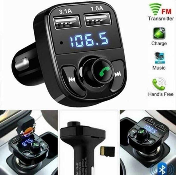 FM Трансмитер X8 Bluetooth, MP3 player, SD, USB, Handsfree