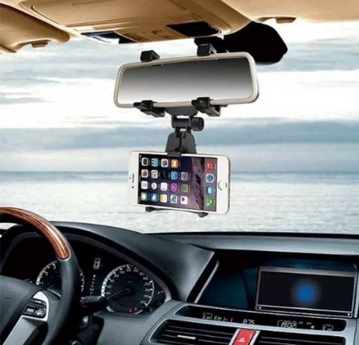Стойка за Телефон за Огледалото на Автомобила